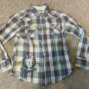Guess plaid button western cowgirl shirt pearl